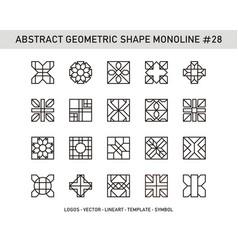 Abstract geometric shape monoline 28 vector