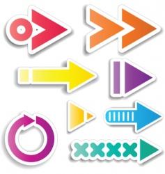 arrow designs vector image vector image