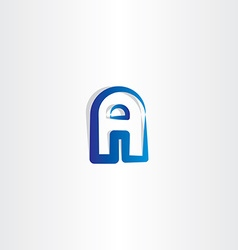 Blue gradient logotype a letter a logo vector