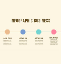 Business infographic chart design collection vector