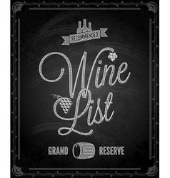 Chalkboard wine vector
