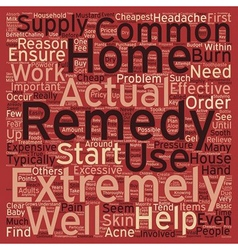 Cheapest home remedies 1 text background wordcloud vector