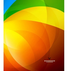 Colorful shiny abstract design template vector image