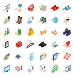 Creative marketing icons set isometric style vector