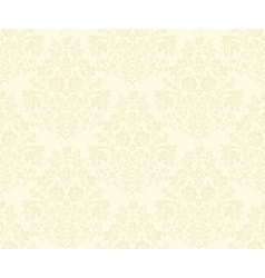 damask seamless pattern beige vector image