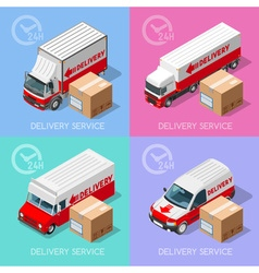 Delivery 07 Infographic Isometric vector image vector image