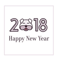 happy new year 2018 greeting card banner for vector image