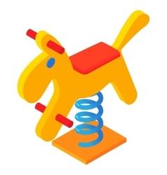 Horse swing icon cartoon style vector image vector image