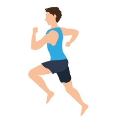 man running icon vector image