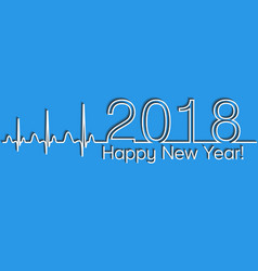 Medical christmas banner 2018 happy new year vector