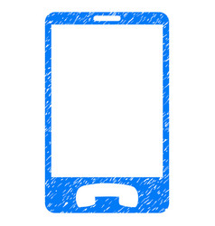 Mobile phone grunge icon vector