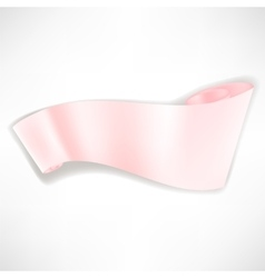 Pink Paper Banner vector image vector image