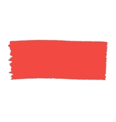 Red brush stroke isolated on white background vector image