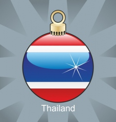 Thailand flag on bulb vector image vector image