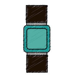 time wristwatch isolated icon vector image vector image