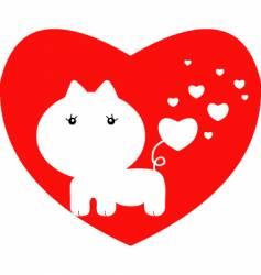 valentine cat vector image vector image