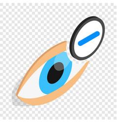 vision myopia isometric icon vector image