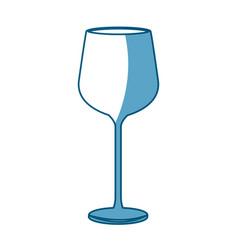 wine glass cup drink liquid shadow vector image vector image