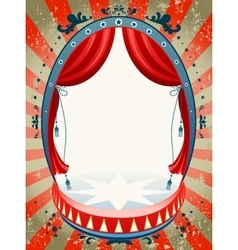 Vintage circus background vector