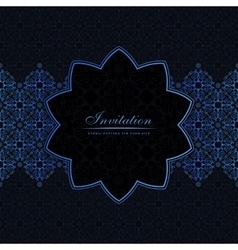 Banner islam ethnic design Invitation vector image