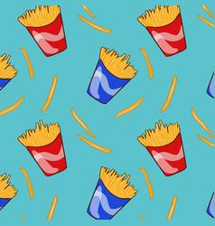 Flat fast food pattern vector