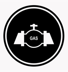 Danger attention logo sign in round shape with gas vector