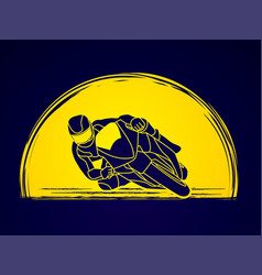 motorcycle racing graphic vector image