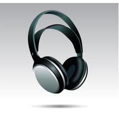 Realistic headphones vector