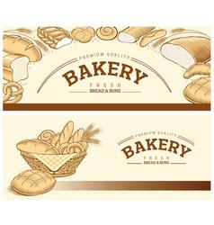 Bakery food item bread baguette wheat vector