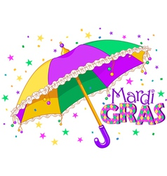 Mardi Gras umbrella vector image