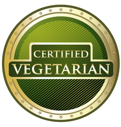 Certified vegetarian label vector