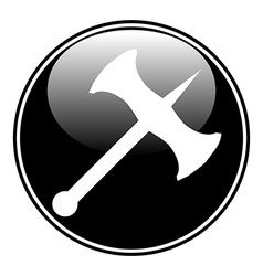 Battle axe button vector