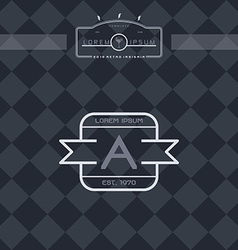 Modern insignia vintage label vector