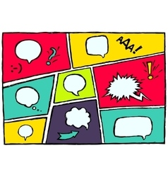 Set dynamic comic speech bubbles different emotion vector
