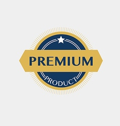 Premium product badge label vector