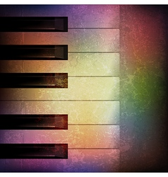 Abstract grunge music background with piano on vector