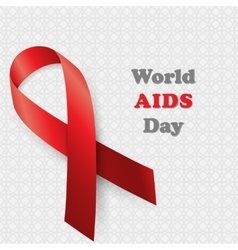 Aids Awareness World Day concept vector image vector image