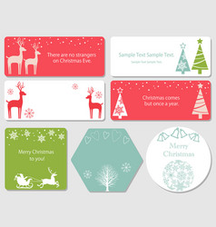 Assorted christmas index cards vector