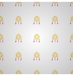 background for yellow dream catcher vector image