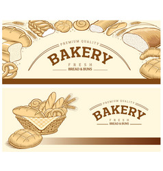 Bakery food item bread baguette wheat vector