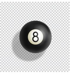 Billiards eight ball realistic vector