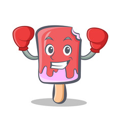 boxing ice cream character cartoon vector image vector image