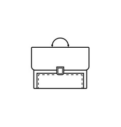 briefcase and business line icon finance vector image