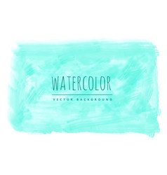 Bright blue watercolor stain background vector