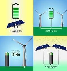 Clean energy vector image