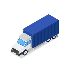 commercial freight truck isometric 3d icon vector image