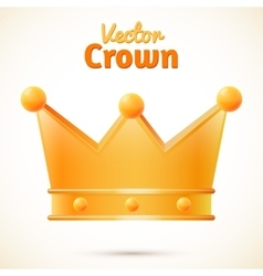 Crown isolated vector
