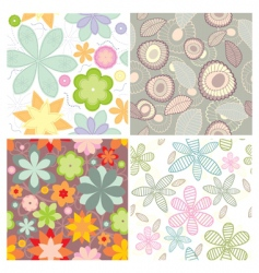 cute seamless wallpapers vector image vector image