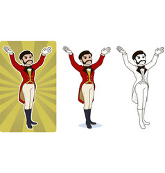 Entertainer circus character vector