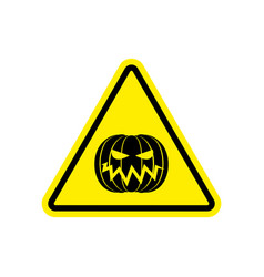 Halloween warning sign yellow masquerade hazard vector